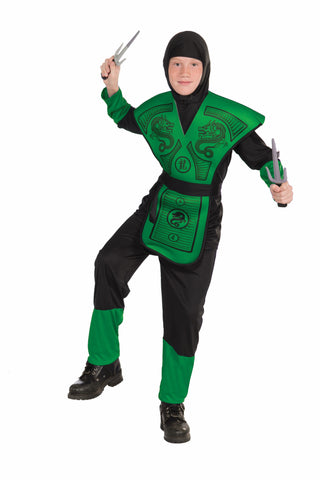 Boys Green Ninja Costume - HalloweenCostumes4U.com - Kids Costumes