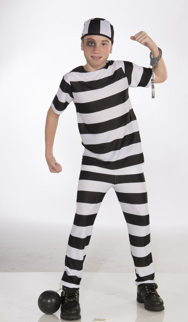 Kids Jail Bird Convict Costume - HalloweenCostumes4U.com - Kids Costumes
