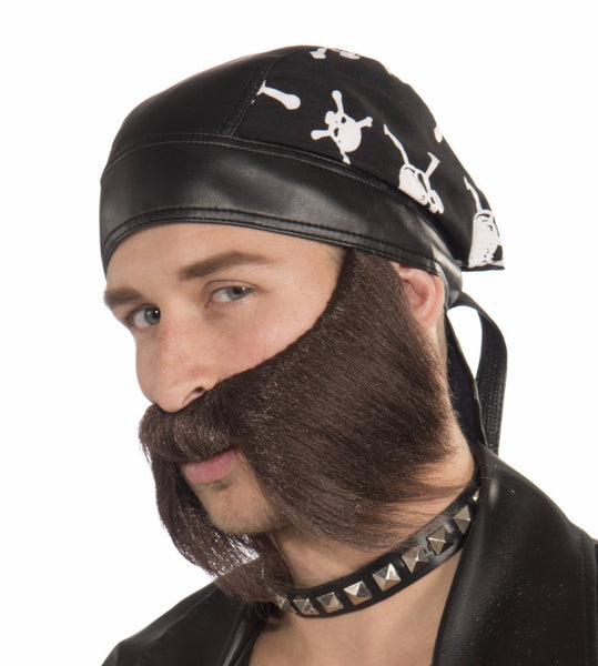 Bad Biker Beard - Various Colors - HalloweenCostumes4U.com - Accessories - 2