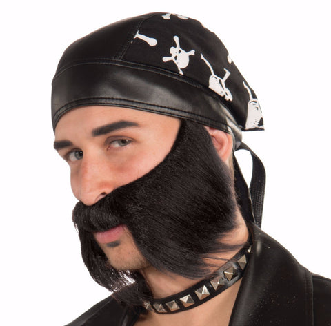 Bad Biker Beard - Various Colors - HalloweenCostumes4U.com - Accessories - 1