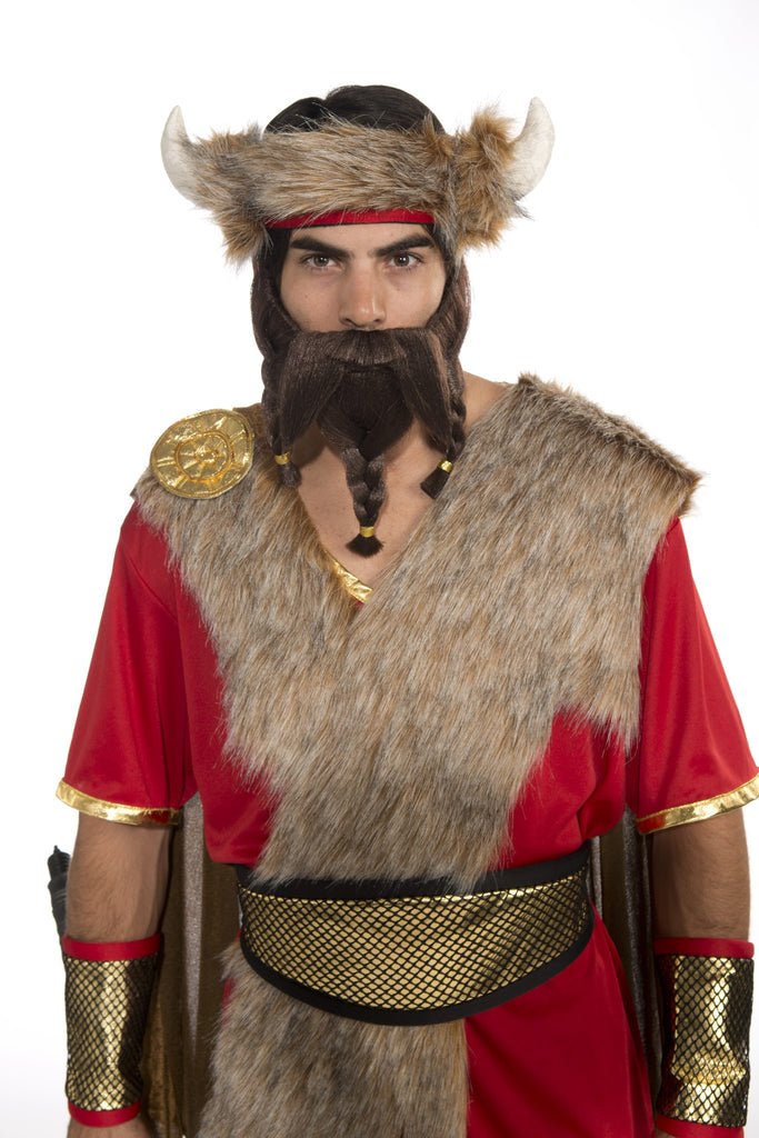 Warrior Beard-Brown - HalloweenCostumes4U.com - Accessories