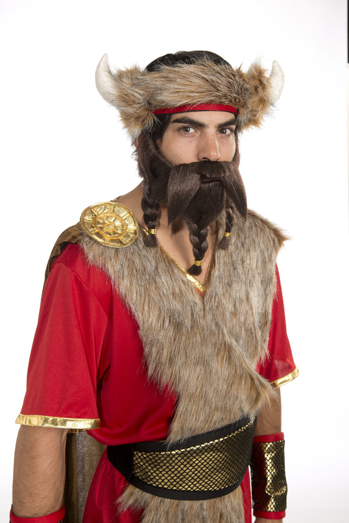 Warrior Beard-Blonde - HalloweenCostumes4U.com - Accessories