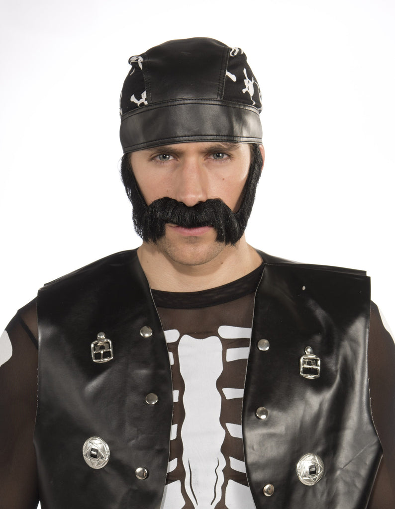 Macho Beard-Black - HalloweenCostumes4U.com - Accessories