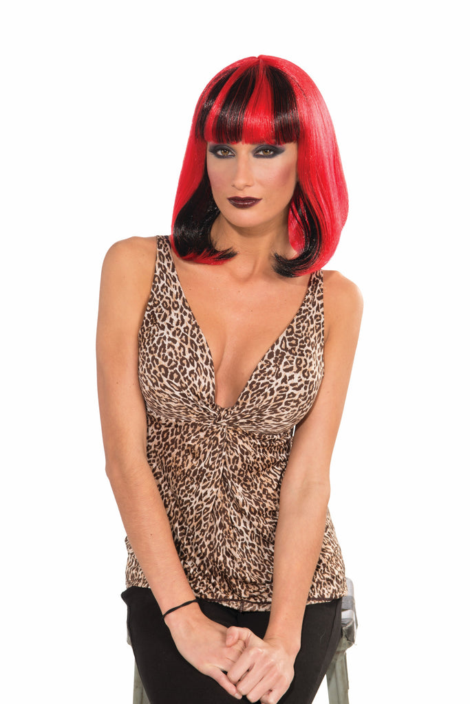 Wig-Sizzle-Red/Black - HalloweenCostumes4U.com - Accessories