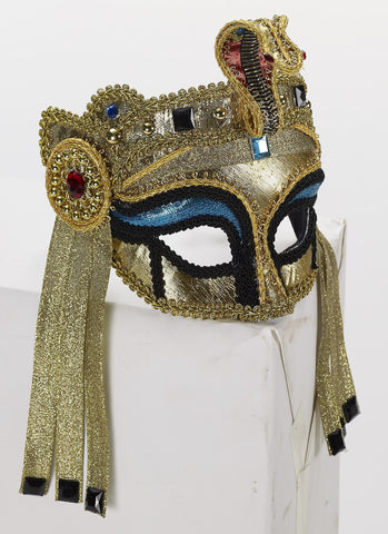 Deluxe Egypt.Mask W/Glasses-Femal - HalloweenCostumes4U.com - Accessories