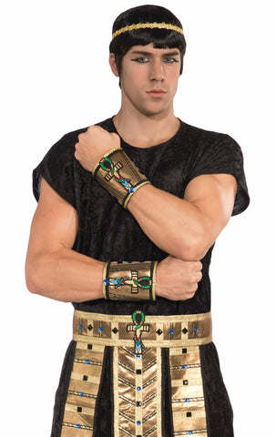 Deluxe Egypt.Wrist Cuff-Male-Pr - HalloweenCostumes4U.com - Accessories