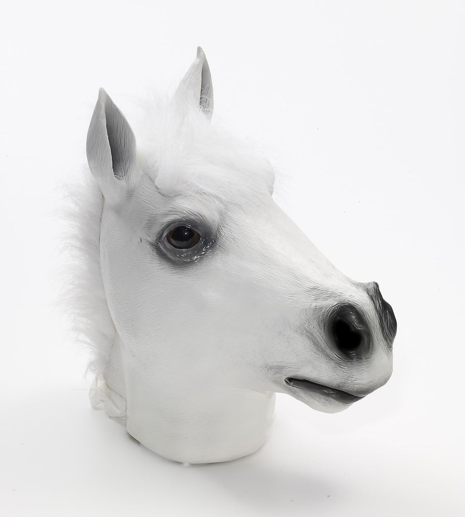 Mask-Deluxe Latex-White-Horse - HalloweenCostumes4U.com - Accessories