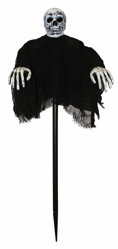 Skeleton W/Black Robe Stake - HalloweenCostumes4U.com - Accessories