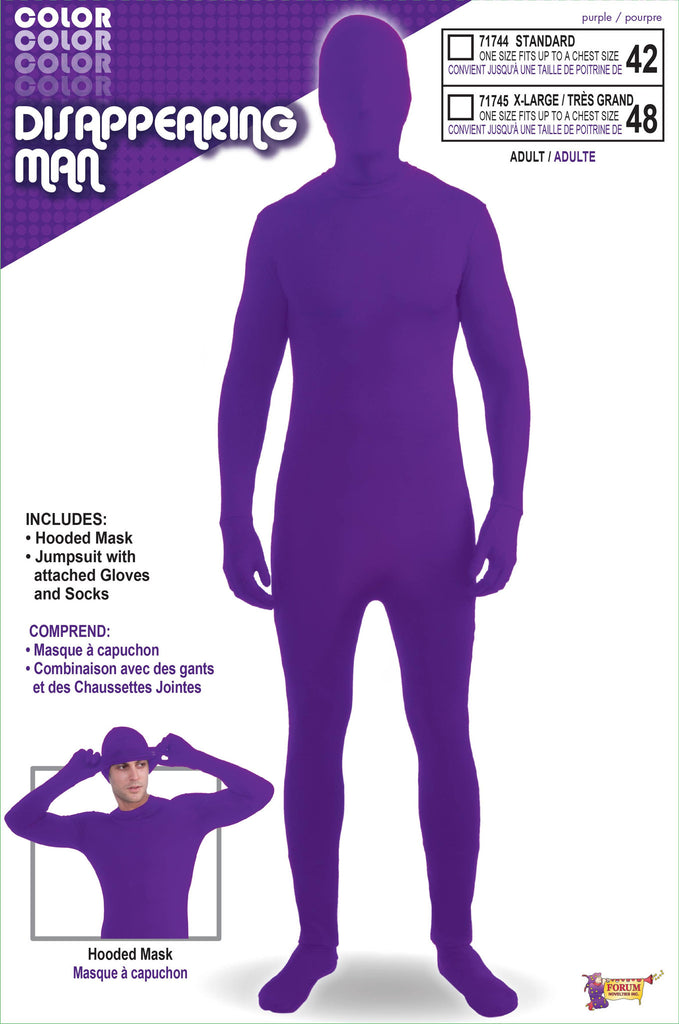 Costume-Disappearing Man-Purple - HalloweenCostumes4U.com - Costumes