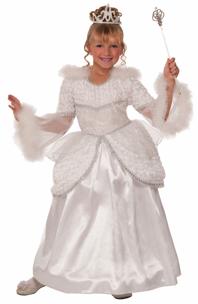 Girls Deluxe Snow Queen Costume - HalloweenCostumes4U.com - Kids Costumes