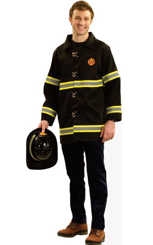Mens Fire Fighter Jacket - HalloweenCostumes4U.com - Adult Costumes