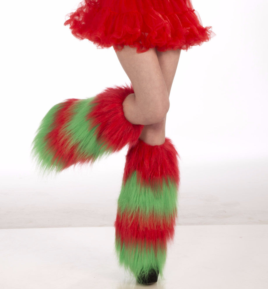 Green & Red Leg Warmers - HalloweenCostumes4U.com - Accessories