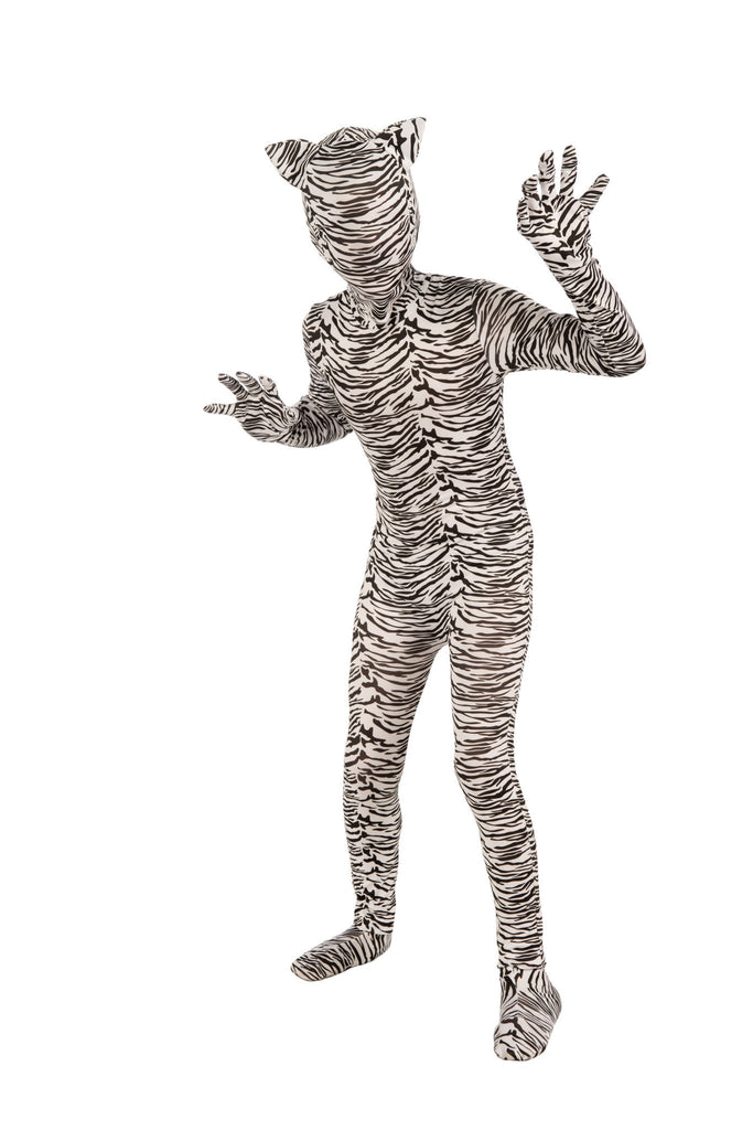 White Tiger Second Skin Suit - HalloweenCostumes4U.com - Kids Costumes
