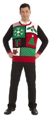 Adults Jolly Holiday Christmas Sweater - HalloweenCostumes4U.com - Adult Costumes