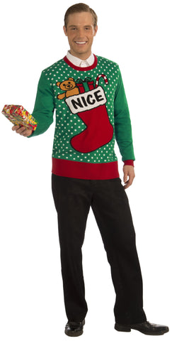 Adults Nice Stocking Christmas Sweater - HalloweenCostumes4U.com - Adult Costumes