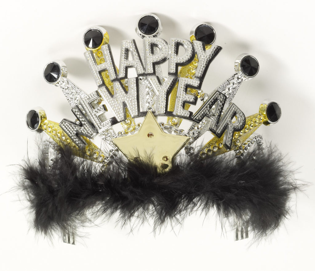 Happy New Year Tiara-Lite Up - HalloweenCostumes4U.com - Accessories