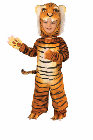 Boys Plush Tiger Costume - HalloweenCostumes4U.com - Kids Costumes