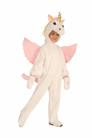 Girls Plush Unicorn Costume - HalloweenCostumes4U.com - Kids Costumes
