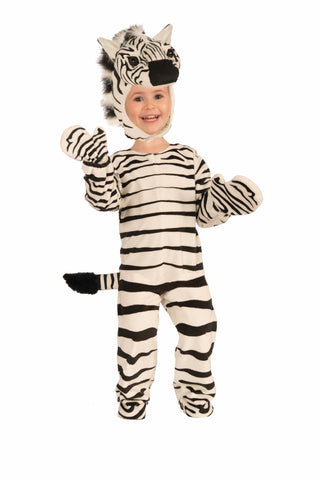 Boys Plush Zebra Costume - HalloweenCostumes4U.com - Kids Costumes