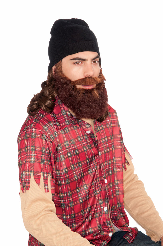 Hunt.Man-Attached Skull Cap & Beard - HalloweenCostumes4U.com - Accessories