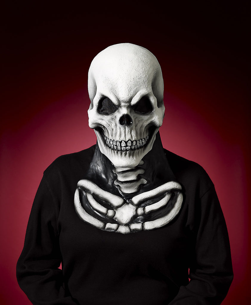 Mask-Skeleton W/Chest-Vinyl - HalloweenCostumes4U.com - Accessories