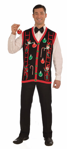 Adults Decorating Elves Christmas Vest - HalloweenCostumes4U.com - Adult Costumes