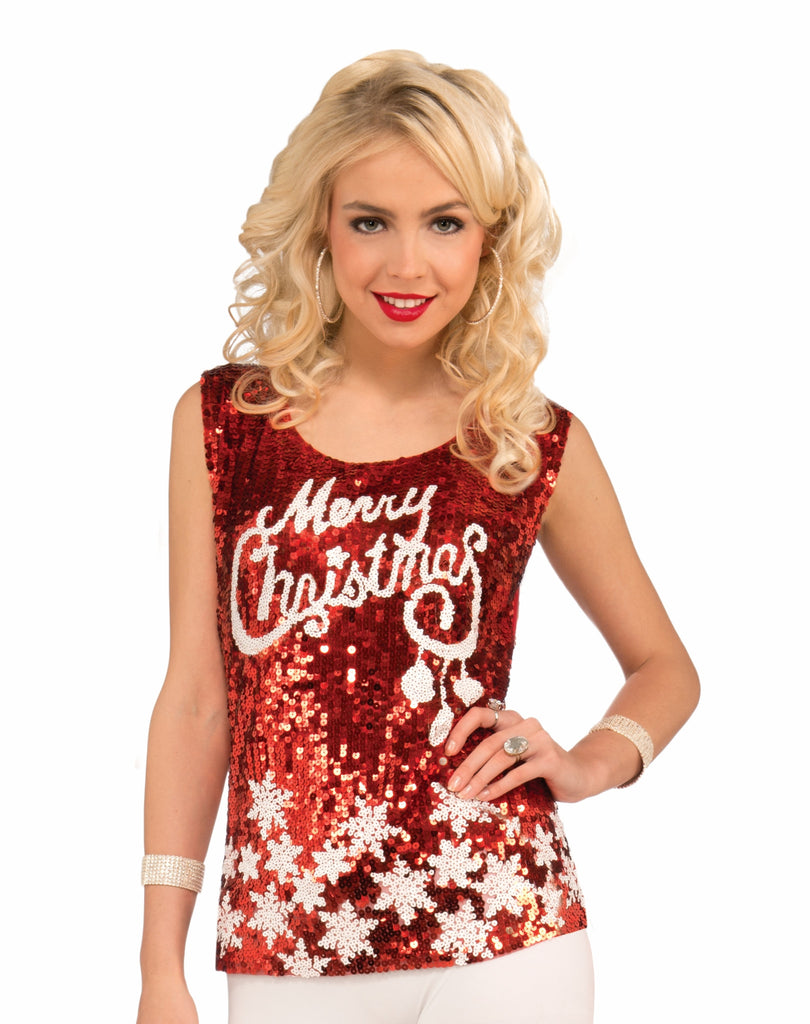 Racy Red-Merry Christ.Top - HalloweenCostumes4U.com - Accessories