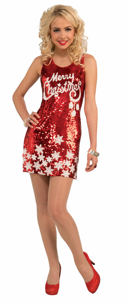 Racy Red-Merry Christ.Dress