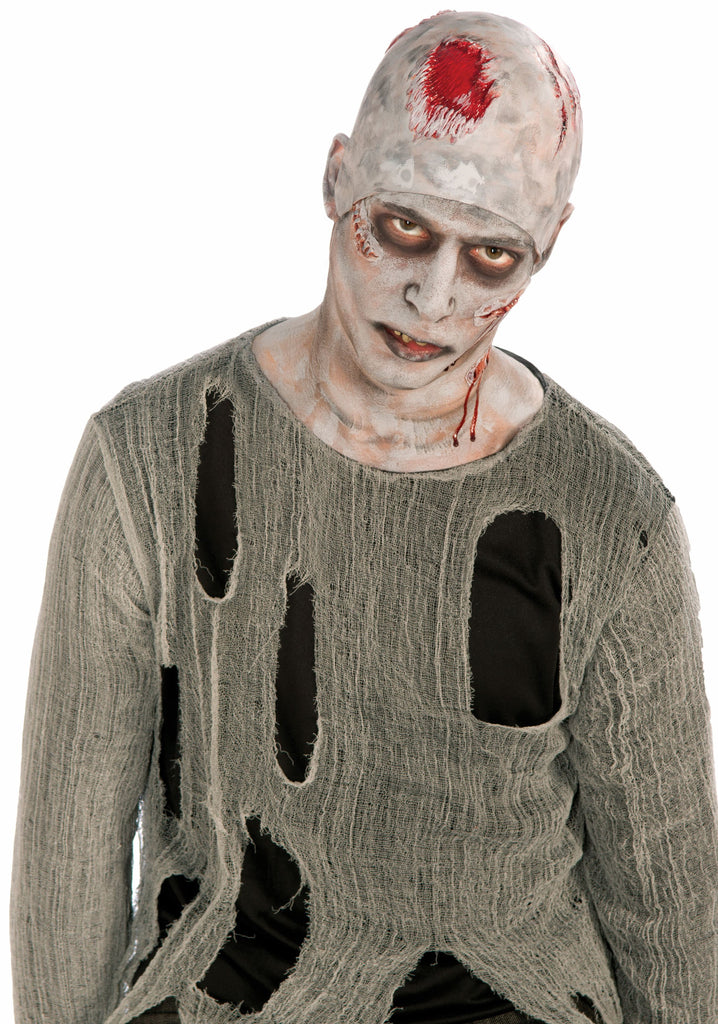 Zombie Bald Cap - HalloweenCostumes4U.com - Accessories