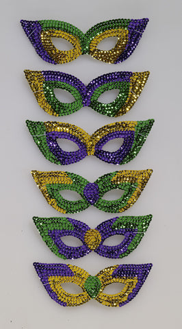 M/G Sequin Eyemasks-6/Pkg - HalloweenCostumes4U.com - Accessories