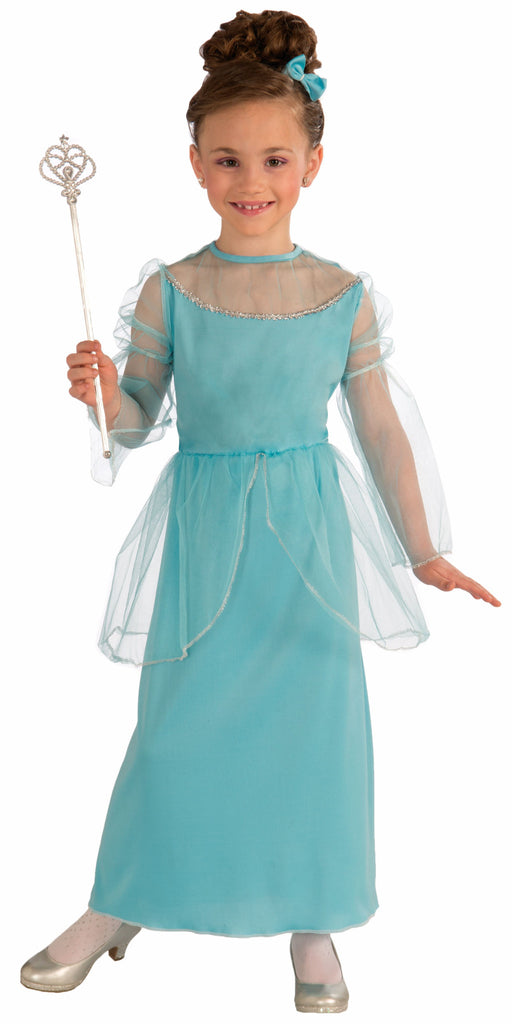Girls Blue Princess Costume - HalloweenCostumes4U.com - Kids Costumes