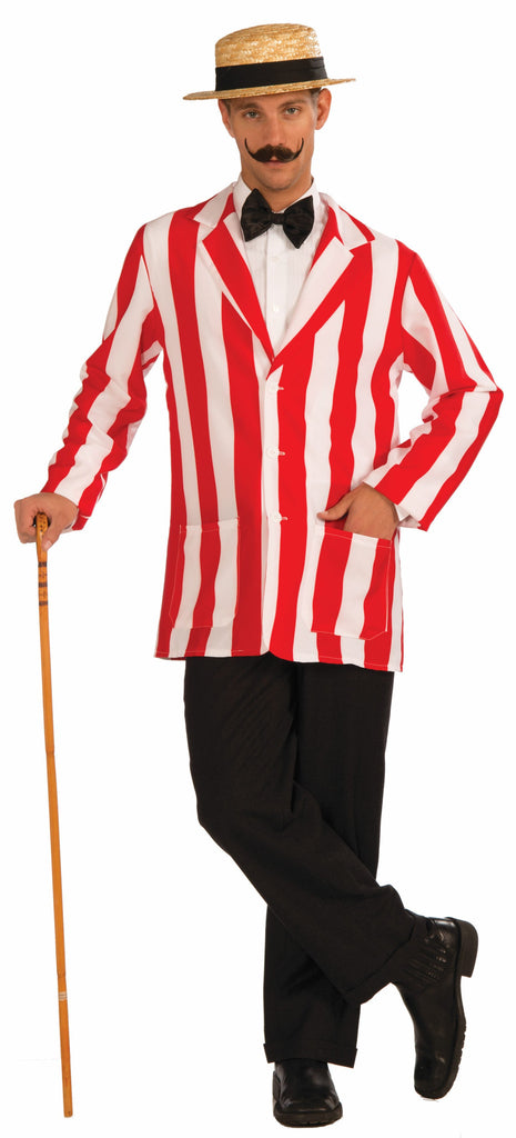 Old Time Jacket - Red/White - XL - HalloweenCostumes4U.com - Accessories