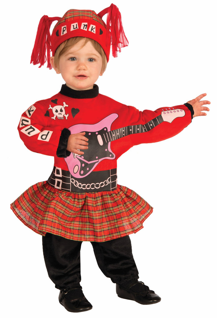 Infant Punk Baby - Girl - HalloweenCostumes4U.com - Infant & Toddler Costumes