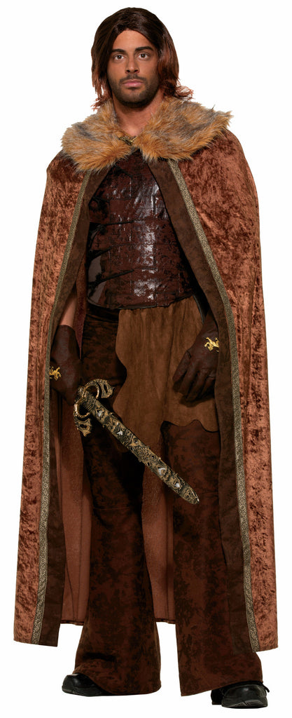 Faux Fur Trimmed Cape - Brn - Male - HalloweenCostumes4U.com - Accessories