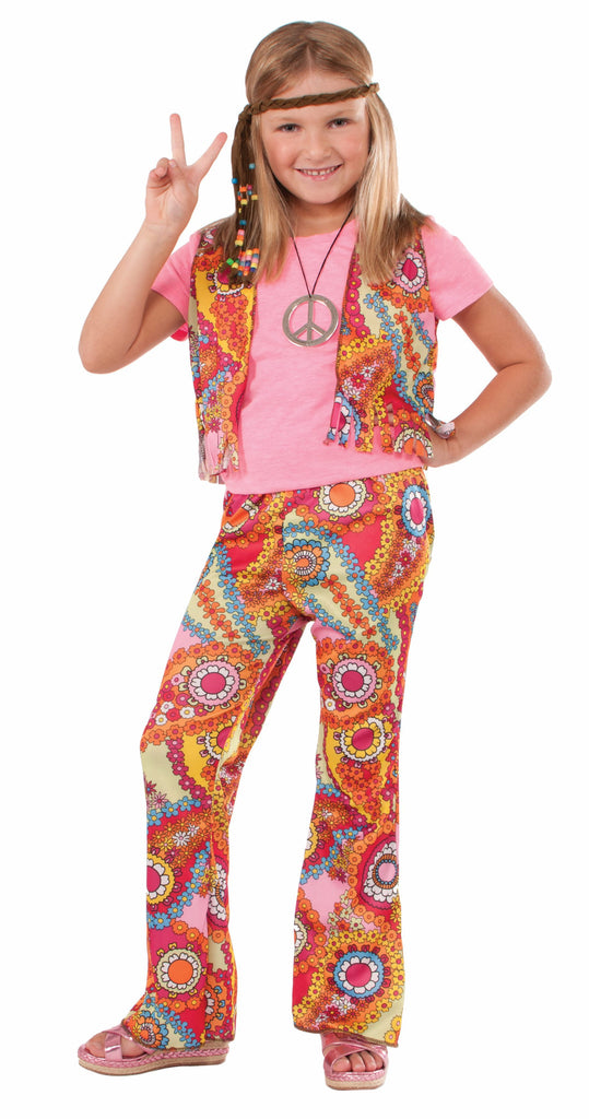 Girls Hippie Girl Costume - HalloweenCostumes4U.com - Kids Costumes