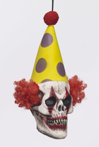 Hanging Head-Clown Prop - HalloweenCostumes4U.com - Decorations