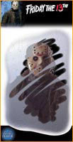 Scary Jason Mirror Decals - HalloweenCostumes4U.com - Decorations