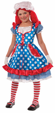 Girl Rag Doll Costume - HalloweenCostumes4U.com - Kids Costumes