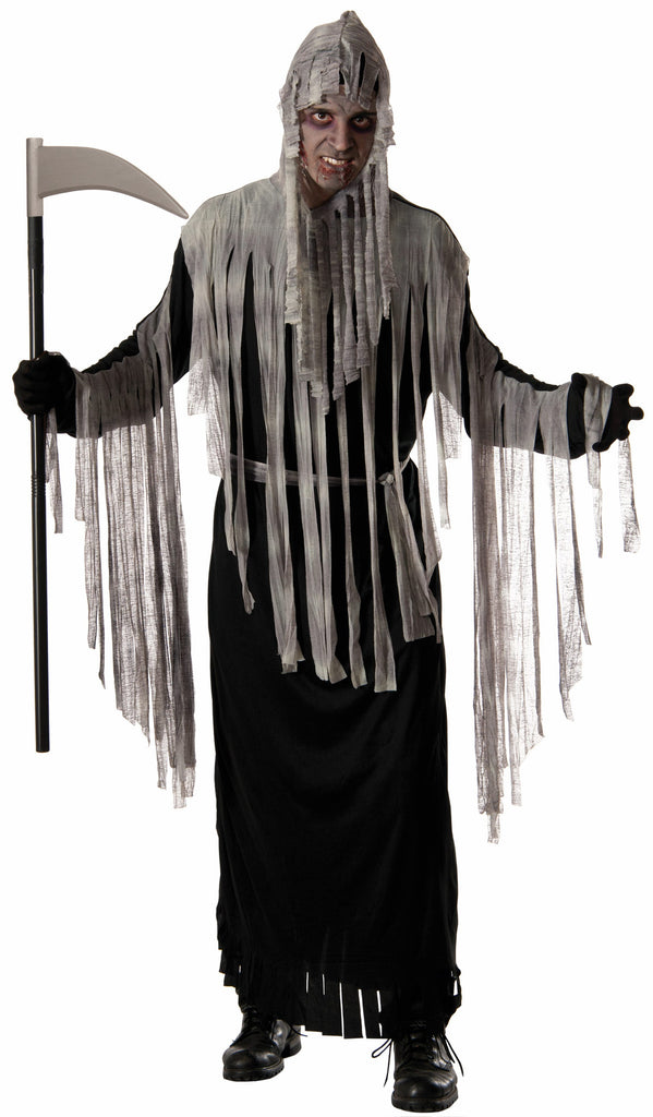 Haunted Reaper Robe W/Hood - HalloweenCostumes4U.com - Accessories