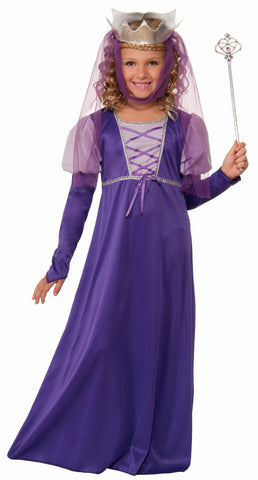 Girls Renaissance Queen Costume - HalloweenCostumes4U.com - Kids Costumes
