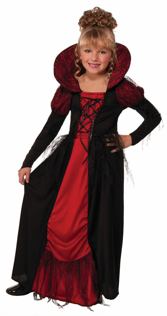 Girls Vampiress Queen Costume - HalloweenCostumes4U.com - Kids Costumes