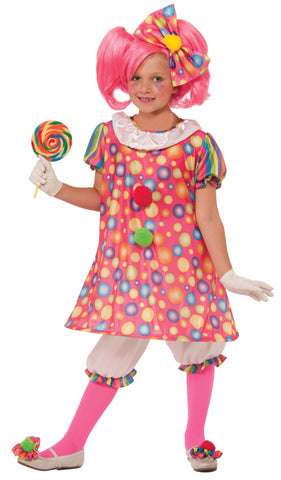 Girls Tickles The Clown Costume - HalloweenCostumes4U.com - Kids Costumes