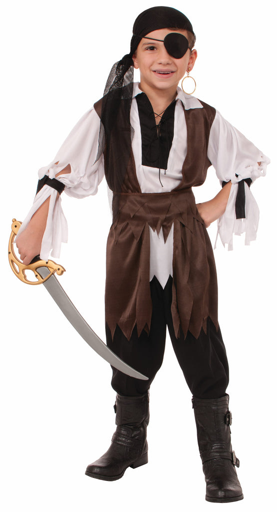 Boys Caribbean Pirate Costume - HalloweenCostumes4U.com - Kids Costumes