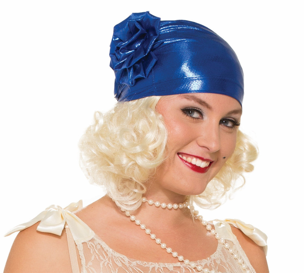 Roarin 20's Cloche Hat-Navy Blu - HalloweenCostumes4U.com - Accessories