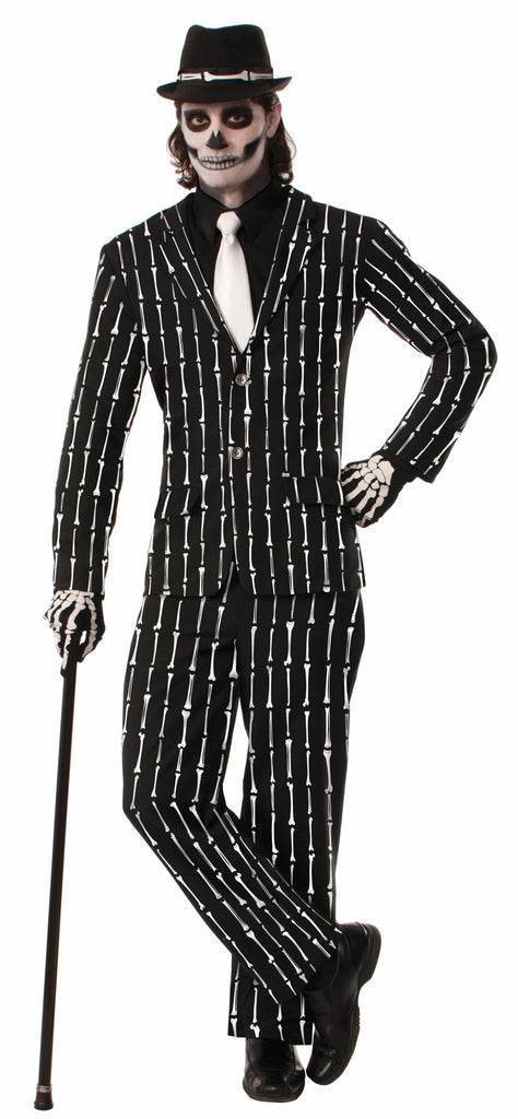 Costume - Bone Pin Stripe Suit - Standard - HalloweenCostumes4U.com - Costumes