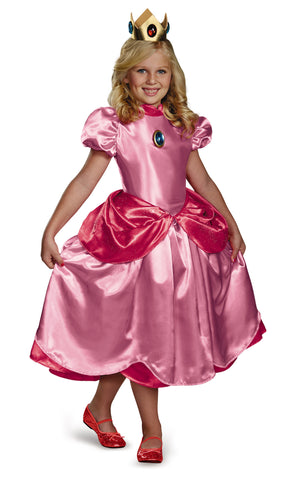 Girls Nintendo Deluxe Princess Peach Costume - HalloweenCostumes4U.com - Kids Costumes