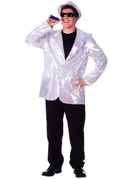 Mens Sequined Blazer - Various Colors - HalloweenCostumes4U.com - Adult Costumes - 2
