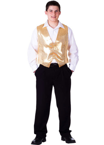 Mens Sequined Vest - Various Colors - HalloweenCostumes4U.com - Kids Costumes - 1