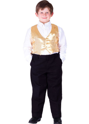 Boys Sequined Vest - Various Colors - HalloweenCostumes4U.com - Kids Costumes - 1