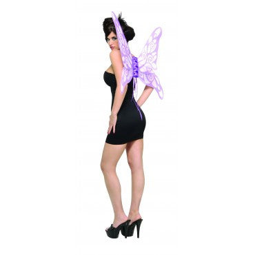 Lavender Glitter Butterfly Wings - HalloweenCostumes4U.com - Accessories